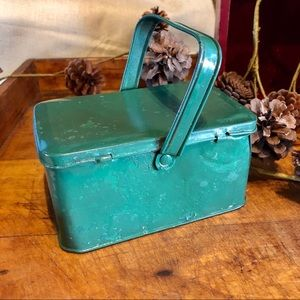 Vtg early 1900s Tindeco Lunch Box/Pail, Candy Box